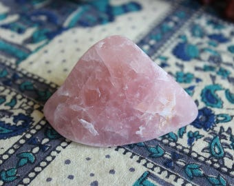 SALE - Semi polished rose quartz chunk