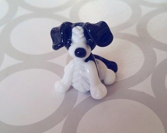 Border Collie - Dog Bead - Border Collie Bead - Collie Beads - Lampwork Beads - Glass Border Collie - Dog Lover - Tiny Dog - Dog Statue - UK