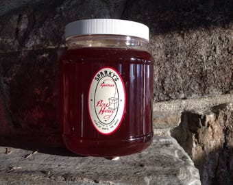 5lb. Lightly heated and strained local honey .