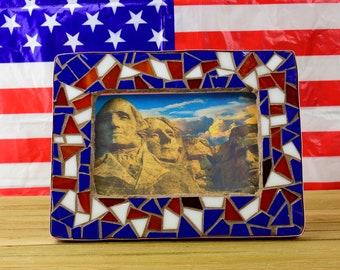 Mosaic Frame-Red,white,blue