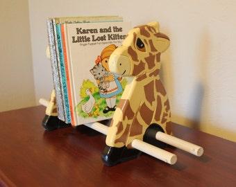 Wooden Giraffe bookshelf