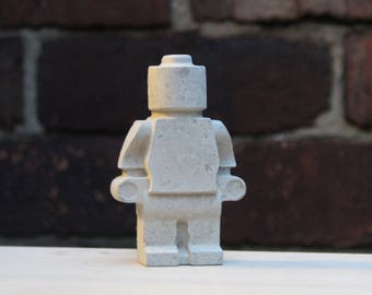 Medium concrete lego man