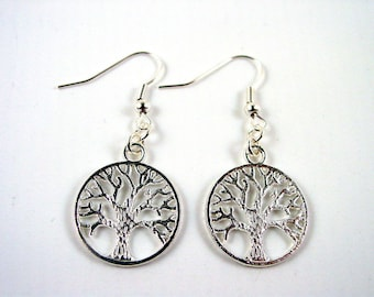 Tree of Life Earrings  - Silver Tree Earrings - Pagan Earrings