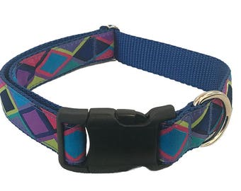 "1"" Diamond Dog Collar, Martingale, Harness or Leash"