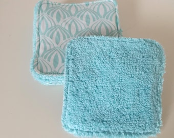 Washable cotton with geometric patterns and Terry cloth
