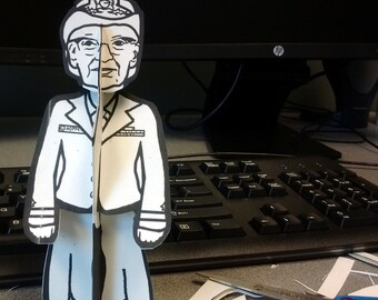 Grace Hopper Queen of Code Paper Doll - Printable Toy