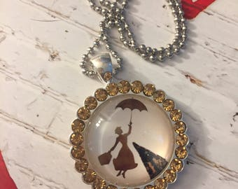 Mary Poppins Glass Dome Pendant