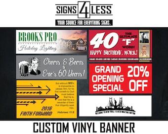Single Sided Custom Vinyl Banner