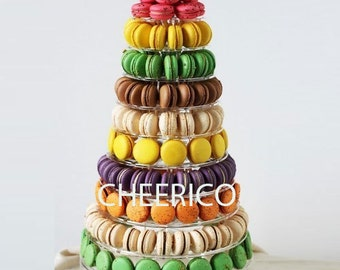 10 Tier Macaron Display Stand for French Macarons By Cheerico