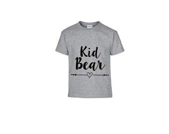 Kid Bear OR Baby Bear Kid's Shirt