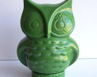 Owl Planter, Cactus Planter, Desktop Planter, Vintage Design, Green Planter, Succulent Planter, Bird Decor, Animal Planter, Indoor Planter