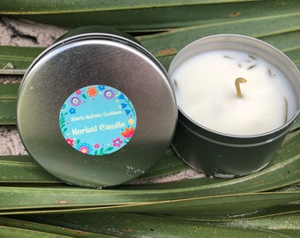 Organic Lemon herbal Candle