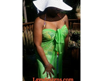 Green, Bathingsuit Cover up