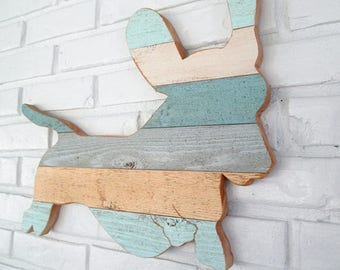 Dachshund Rustic Lake House Decor Wood Beach Sign Dachshund Dog Wall Art #6006