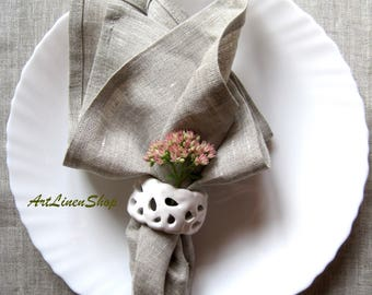 Rustic linen napkins Gray linens Table napkins set Linen napkins Large linen napkins Natural linens Gray table napkins Linen table napkins