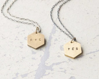 Forever necklaces (set of 2) - valentine's day, anniversary, birthday, best friends, going away gift, initials