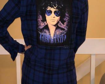 The Doors Jim Morrison plaid flannel dress size XS/Small