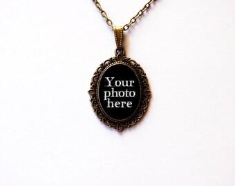 CUSTOM Cameo Pendant With Your Photo - Custom Pendant - Custom Necklace - Custom Jewelry - Personalized Handmade Cameo Pendant Necklace