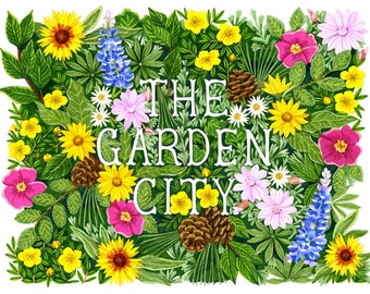 The Garden City - Missoula, Montana Wildflower Print
