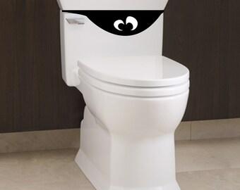 Kleines WC Monster 3   Bad Aufkleber