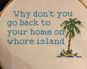 Island cross stitch