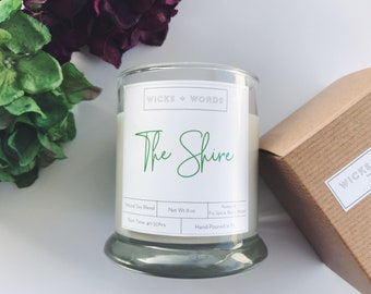 """Wicks + Words - """"The Shire"""" - Natural Soy Candle"""