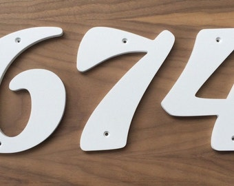 5.5 inch SoCal Script Style House Numbers Letters