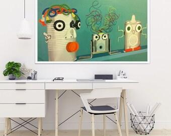 Paint Can Wall décor painting Acryl large canvas Modern art