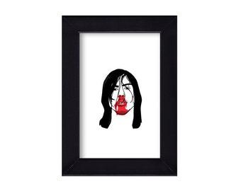 4 x 6 Framed Andrew W K Portrait