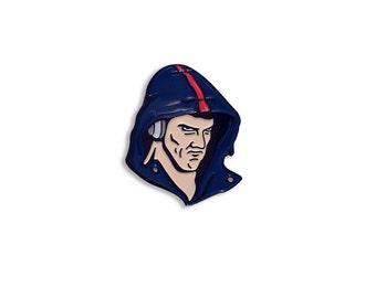 Phelps Face Enamel Pin