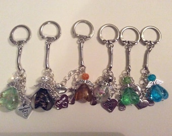 Guardian angel key rings