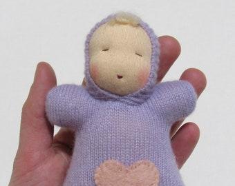 Cashmere Cuddle Doll, Waldorf Baby Doll, Waldorf Bunting Doll, Waldorf Pocket Doll