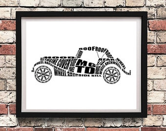 """MG TD Wall Art, Classic MGTD, Garage Art, Mg td, Instant Download, Classic Car Decor, 8x10"""", 14x11"""", 16x20"""""""