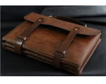 MacBook Air 13-inch &MacBook Pro 13 Leather Laptop bag sleeve cover--brown color