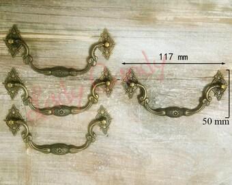 Set of 10 handle falling Drawer Dresser sideboard Cabinet iron #120005