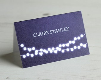 Winter Lights Place Name Card / Place Card / Table Name Card / Name Card / Personalised