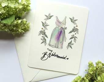 Bridesmaid Thank You Cards - To My Bridesmaid - Thank you Bridesmaid Cards - Maid of Honor Card - Maid of Honor Card - Bridesmaid Gifts