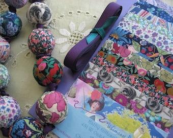 Liberty of London Fabric Bead Necklace DIY Kit
