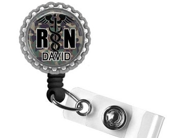 ON SALE - Personalized Badge Reel, Nurse Badge, Badge Reel, Gifts for Nurses, Graduation Gift, Thank You Gift, Nurse, Lanyard, Badge Holder,