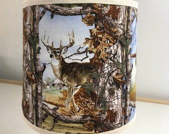 Fabric Lampshade For Wildlife Lovers Outdoorsmen Hunters