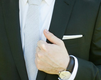 Necktie, Mens Necktie, Neck Tie, Groomsmen Necktie, Ties, Tie, Seersucker Neckties, Wedding Neckties, Ties - Seersucker Collection 13 Shades