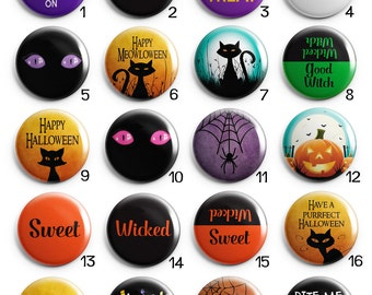 Halloween Interchangeable Magnetic Pendant Toppers or Refrigerator Magnets Choose One or All 20 Magnets