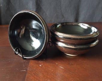 Double-Rim Coal-Earth Bowl Family (Set of 3-4)