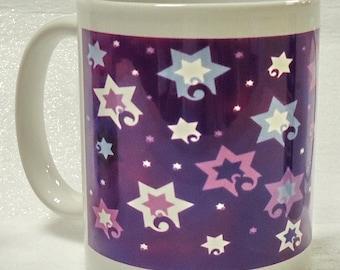 Jewish Mug - Jubilant Stars (Purple)