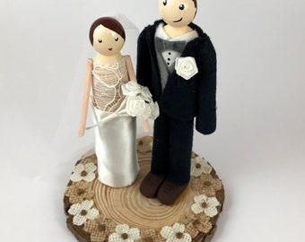 Personalised Peg People Wedding Cake Topper