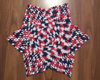 AK Star Doily/Table Decoration/4th of July Crochet Star