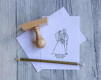 Stamp Wedding couple 03 Handle