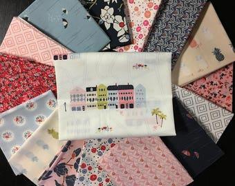 Last FQ bundle - Charleston Full Fabric Collection - Amy Sinibaldi - Art Gallery Fabrics - 16 Fat Eights or 16 Fat Quarters or 16 Half Yards