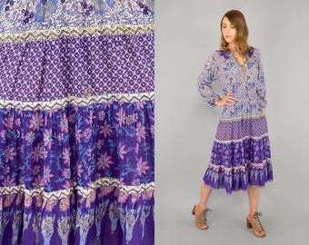70's India Cotton Dress