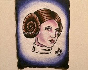 Princess Leia Original Painting